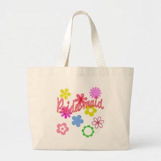Productos llenados flor de la dama de honor bolsa de tela grande