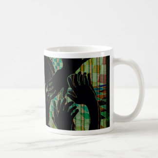 Productos mano a mano del diseño del arte de taza