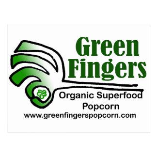 Productos maravillosos de los dedos verdes tarjetas postales