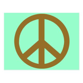 Productos marrones del símbolo de paz postal