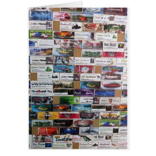 productos medicinales por el barro tarjeta de felicitación