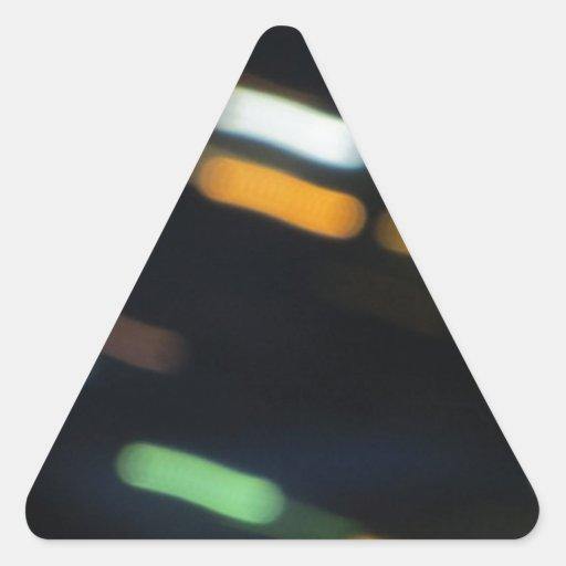Productos móviles ligeros pegatina triangular