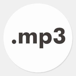 ¡productos mp3 y diseños! pegatina redonda