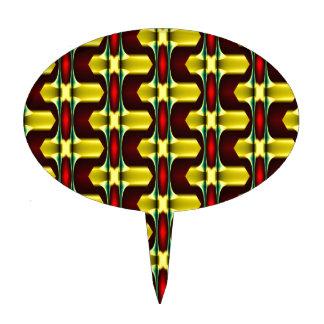 Productos multi del modelo geométrico negro rojo decoraciones para tartas