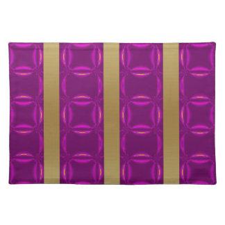 Productos multi del modelo púrpura de la raya del mantel