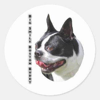 Productos multi lindos de Boston bull terrier Etiqueta Redonda