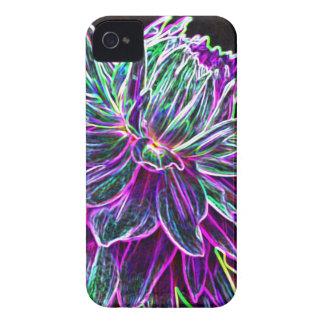 Productos multicolores de la dalia del borde que b Case-Mate iPhone 4 funda