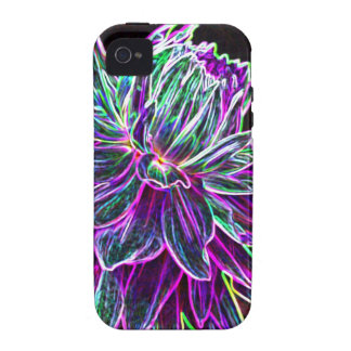 Productos multicolores de la dalia del borde que b iPhone 4 fundas