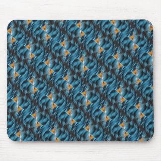 Productos múltiples amarillos azules alfombrillas de ratón