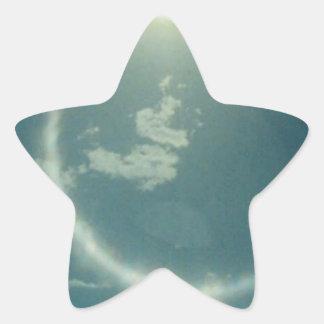 Productos múltiples con la foto de la luna pegatina en forma de estrella