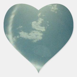 Productos múltiples con la foto de la luna pegatina en forma de corazón