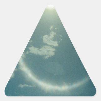 Productos múltiples con la foto de la luna pegatina triangular