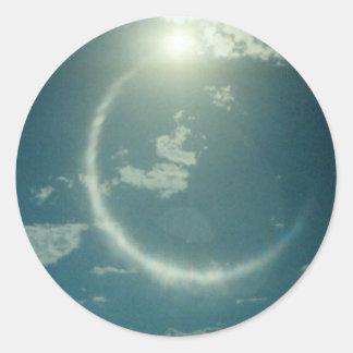 Productos múltiples con la foto de la luna pegatina redonda