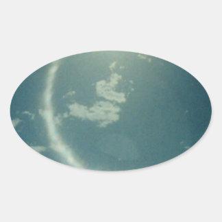Productos múltiples con la foto de la luna pegatina ovalada