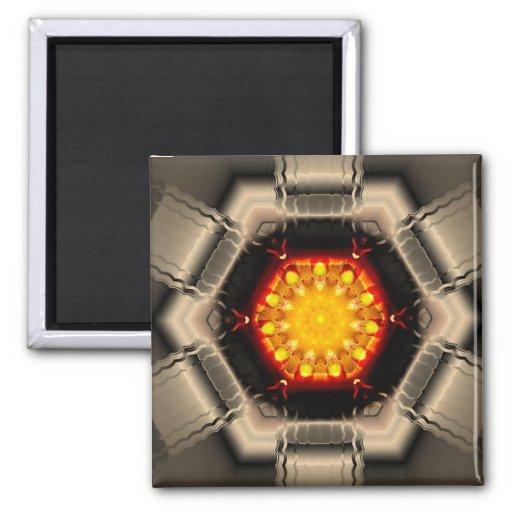 Productos múltiples de la llama de la libertad sel imán cuadrado