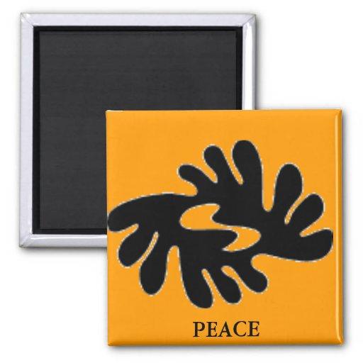 (productos múltiples de la paz seleccionados) imán cuadrado