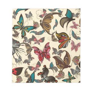 Productos múltiples de las mariposas del vintage s libreta para notas