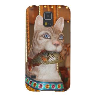 Productos múltiples de lujo del gato carcasa de galaxy s5