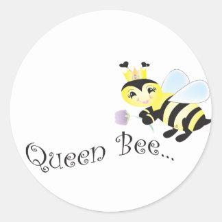 (productos múltiples seleccionados) abeja reina pegatina redonda