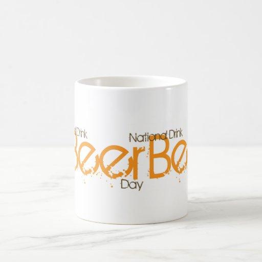 Productos nacionales del día de la cerveza tazas