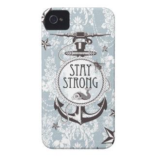 Productos náuticos azules fuertes de la estancia Case-Mate iPhone 4 protector