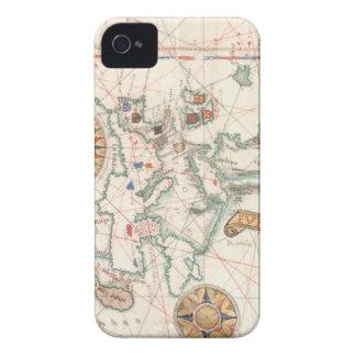 Productos náuticos del mapa del vintage carcasa para iPhone 4 de Case-Mate