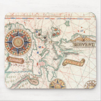 Productos náuticos del mapa del vintage mousepads