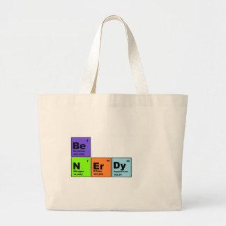 Productos Nerdy de la tabla periódica Bolsa Tela Grande