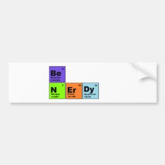 Productos Nerdy de la tabla periódica Etiqueta De Parachoque