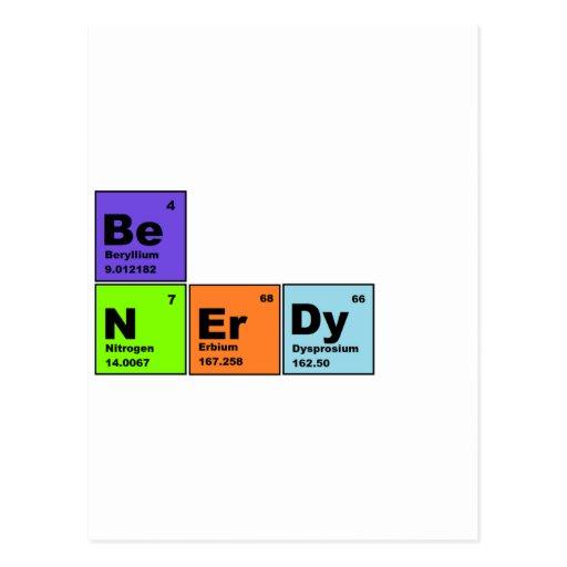 Productos Nerdy de la tabla periódica Tarjetas Postales