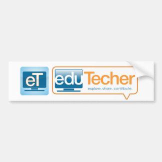 Productos oficiales del eduTecher Pegatina De Parachoque