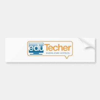 Productos oficiales del eduTecher Etiqueta De Parachoque