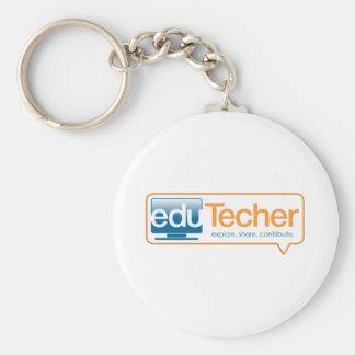 Productos oficiales del eduTecher Llavero Redondo Tipo Pin