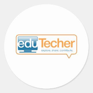 Productos oficiales del eduTecher Pegatinas Redondas