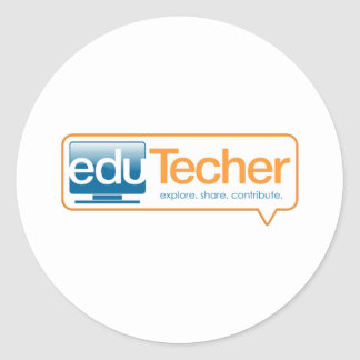 Productos oficiales del eduTecher Pegatina Redonda