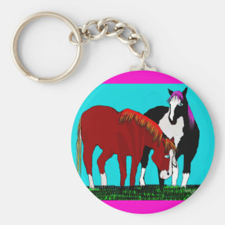 productos perezosos del caballo de los días llavero redondo tipo pin