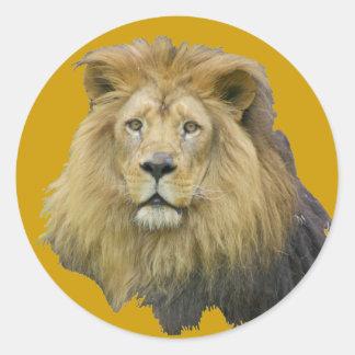 productos principales del león pegatina redonda