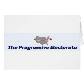 Productos progresivos del electorado tarjeta de felicitación