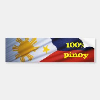 productos puros el 100% pinoy etiqueta de parachoque