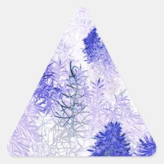 productos púrpuras del árbol de navidad pegatina trianguladas personalizadas