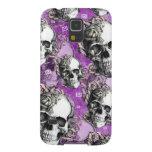 Productos púrpuras del cráneo y de los rosas fundas de galaxy s5