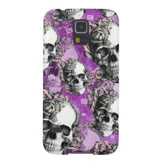 Productos púrpuras del cráneo y de los rosas carcasa para galaxy s5