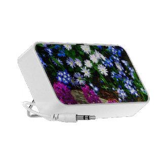 Productos púrpuras y blancos azules del diseño flo altavoz de viaje