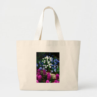 Productos púrpuras y blancos azules del diseño flo bolsas