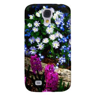 Productos púrpuras y blancos azules del diseño flo funda para galaxy s4