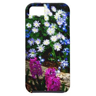 Productos púrpuras y blancos azules del diseño flo iPhone 5 carcasa