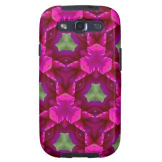 Productos púrpuras y verdes abstractos galaxy s3 cobertura