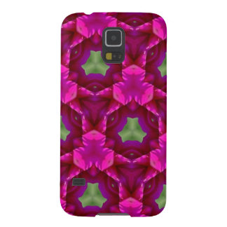 Productos púrpuras y verdes abstractos carcasas de galaxy s5