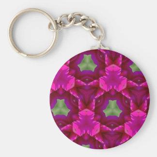 Productos púrpuras y verdes abstractos llavero redondo tipo pin