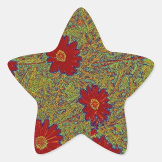 productos rojos de la margarita pegatina en forma de estrella